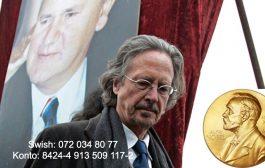 Manifestacija protiv dodjele Nobelove nagrade Peteru Handkeu