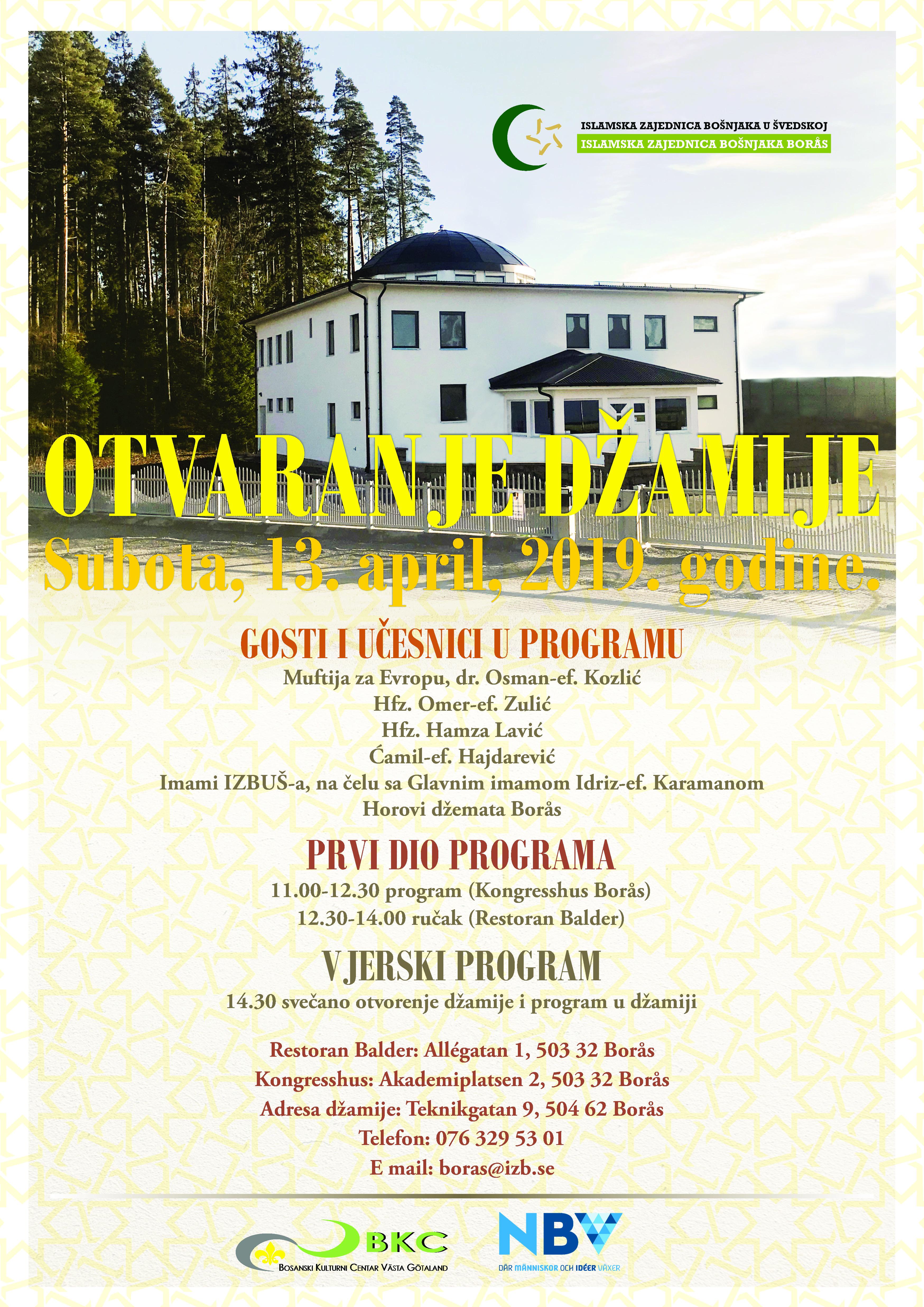 Otvaranje džamije u Džematu Borås