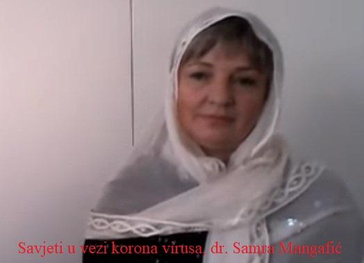 Savjeti u vezi korona virusa, dr. Samra Mangafić