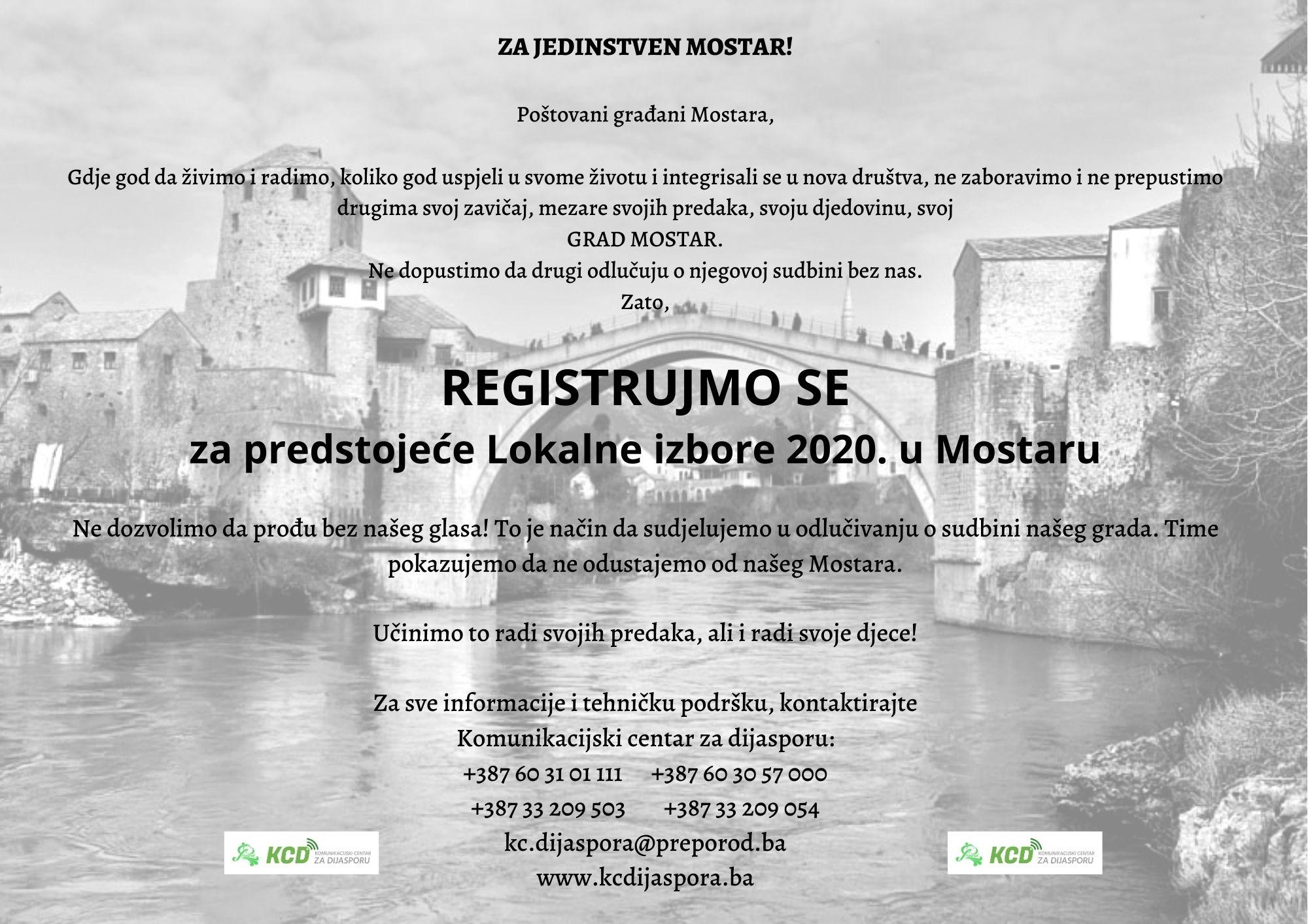 Registracija birača za izbore u Mostaru