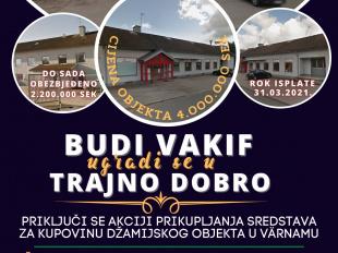 Apel za pomoć za kupovinu objekta za džamijski prostor u Värnamu